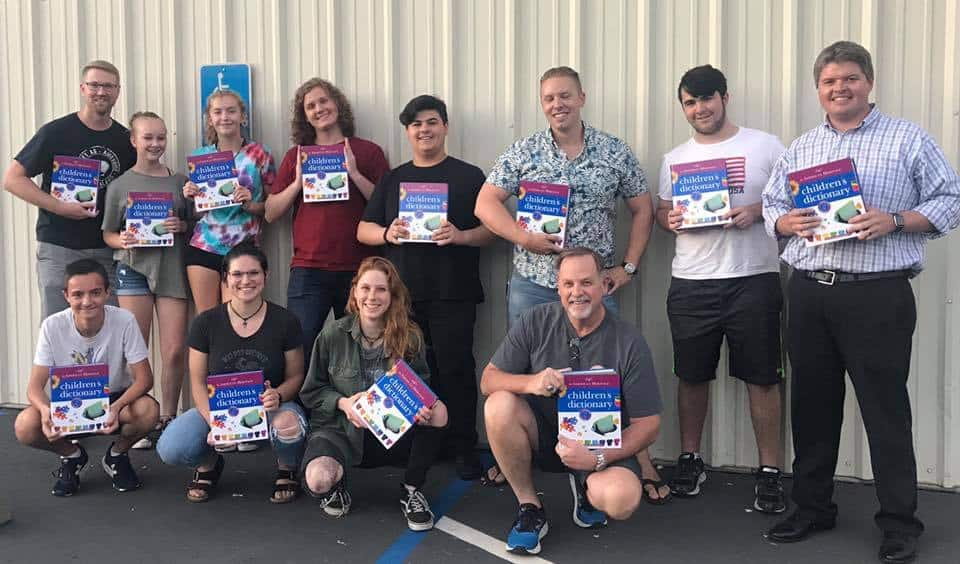 Redding West Rotary Dictionaries delivered